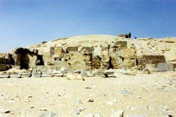 The ruins of Pepi I's pyramid.